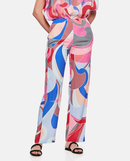 Wide leg trousers with geometric print Women Emilio Pucci 000295980043512 1