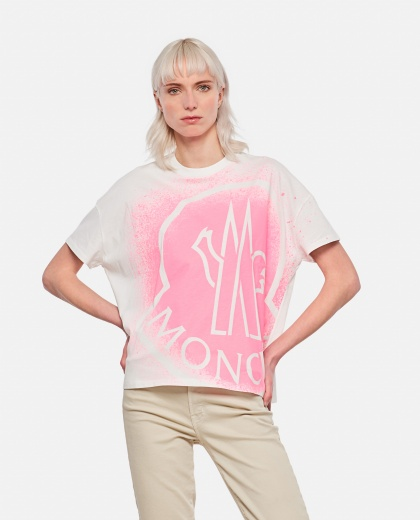 T-shirt with gradient logo Women Moncler 000314750046134 1