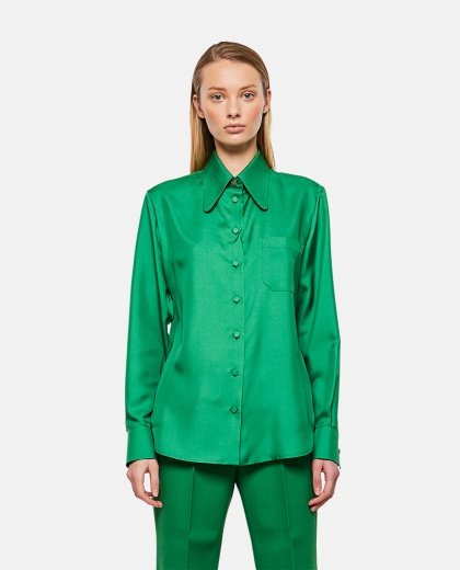 Silk twill shirt Women Gucci 000286980042322 1