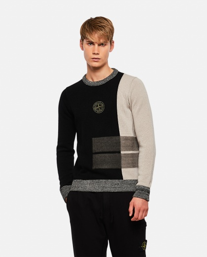 Logo embroidered sweater Men Stone Island 000270890039885 1