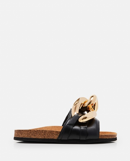 Chain sandals in leather Women J.W. Anderson 000302850044474 1