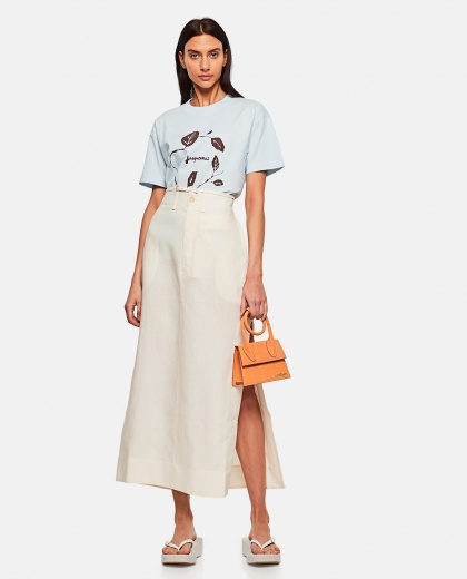 Cotton T-shirt with print Women Jacquemus 000302310044399 2