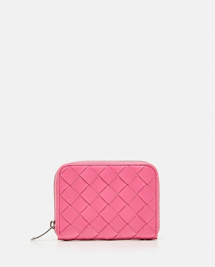 MINI WALLET WITH ZIP IN SHINY BRAIDED Women Bottega Veneta 000224250038258 1