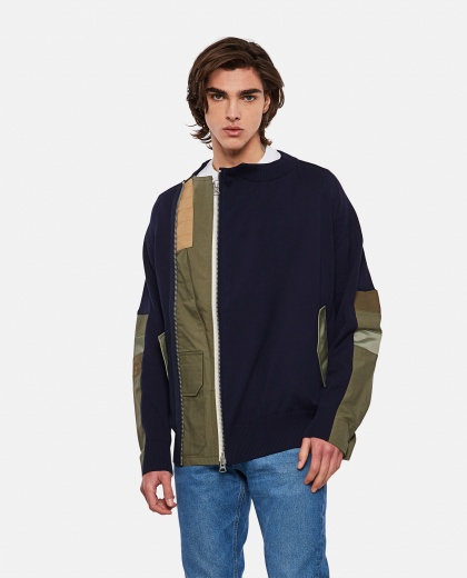 Sweatshirt with panel design Men Sacai 000301170044240 1