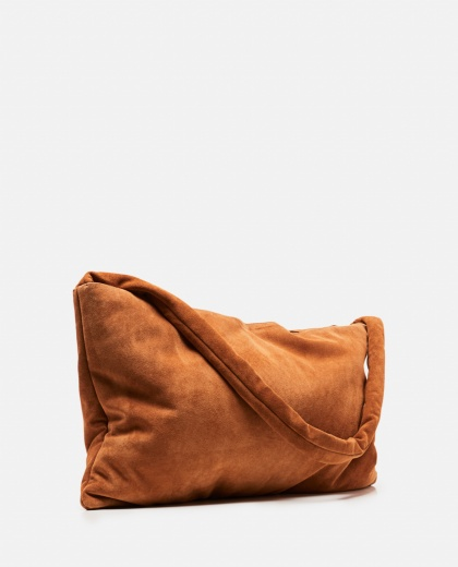 Medium square tote bag in suede Donna Kassl Editions 000307700045086 2