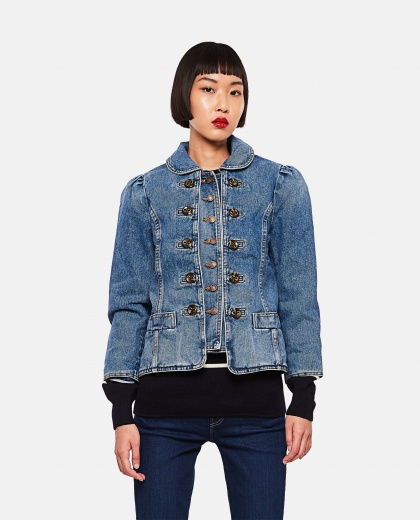 Fitted denim jacket Women Marc Jacobs 000261090038638 1