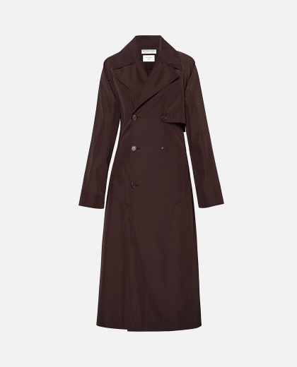 Oxblood trench coat