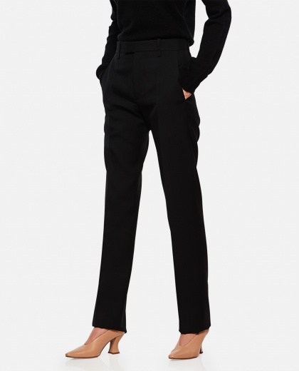 Tailored trousers with straight leg