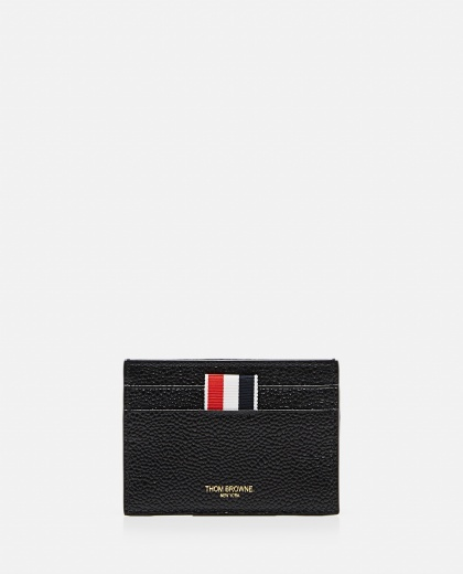 PEBBLE GRAIN LEATHER DOUBLE SIDED CARD HOLDER  Men Thom Browne 000325670047585 1