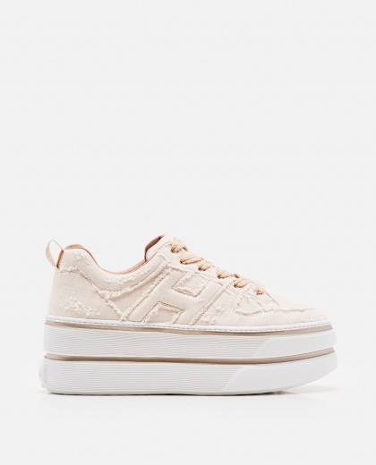 Lace-up canvas sneakers  Women Hogan 000225830033402 1