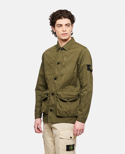 Brushed canvas jacket Uomo Stone Island 000292480043055 1