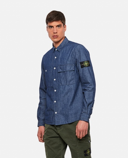 Cotton denim shirt Men Stone Island 000292510043063 1