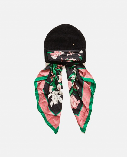Gucci Wool Hat with Silk Scarf
