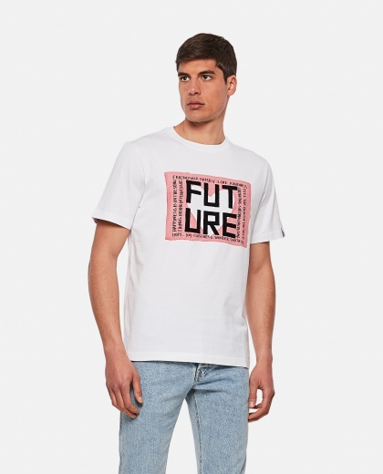 White Adamo t-shirt with Future print Men Golden Goose 000292130043019 1