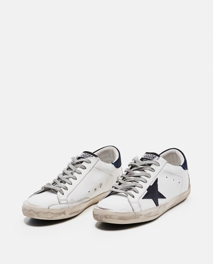 'Superstar' sneakers in leather and suede Men Golden Goose 000269320039698 2