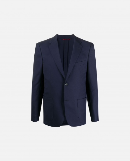 Slim-fit single-breasted blazer