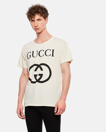 Oversized T-Shirt With Gg Print Men Gucci 000132400020117 1