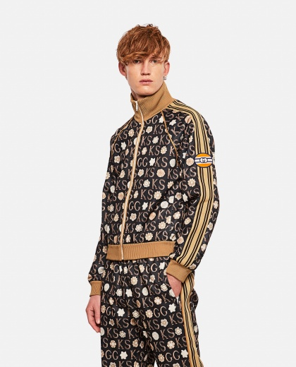 Jacket with zip and Ken Scott x Gucci print Men Gucci 000292880043144 1
