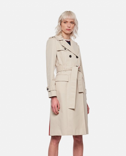 Double-breasted trench coat Women Thom Browne 000296750043633 1