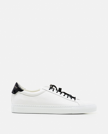 MATT LEATHER SNEAKERS WITH SPORTY LACES