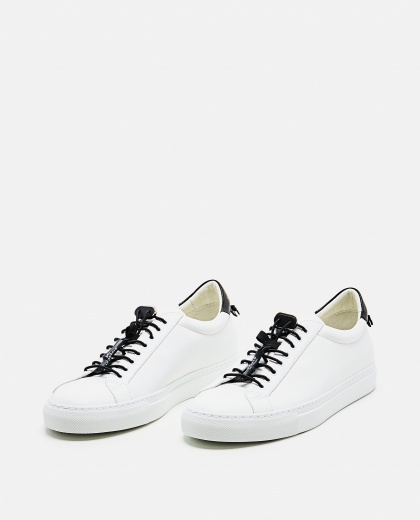 MATT LEATHER SNEAKERS WITH SPORTY LACES Men Givenchy 000253320037421 2