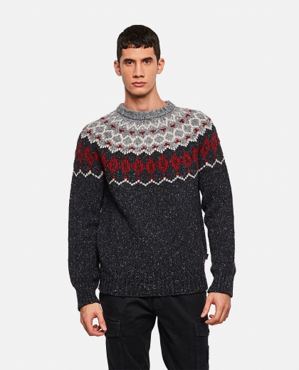 Ribbed crew neck sweater Men Woolrich 000279070041148 1