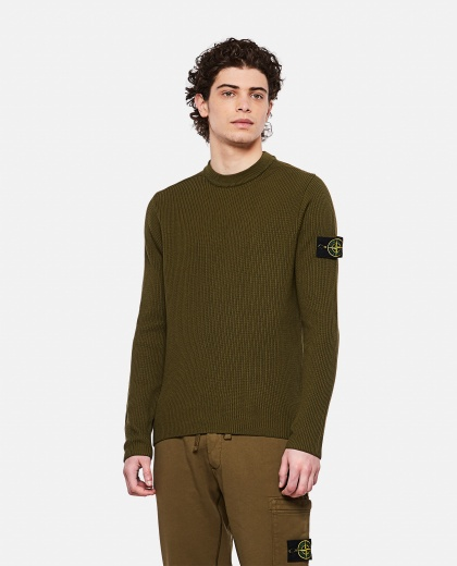 Sweater with logo patch Uomo Stone Island 000292760043119 1