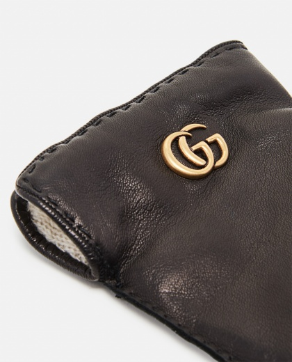 Leather gloves with Double G Women Gucci 000189440028137 2