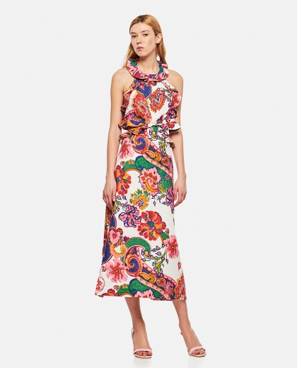 The Lovestruck Tie Back Linen  Midi Dress Women Zimmermann 000290910042832 1