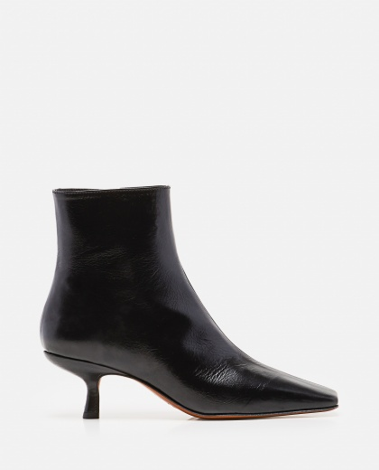 Lange Ankle Boots In Wrinkled Leather Women By Far 000285240042047 1