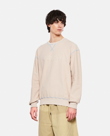 Cotton Sweatshirt with embroidery Men J.W. Anderson 000293100043168 1