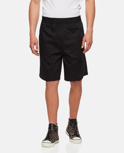 Shorts with side band with logo Men Moncler 000315320046208 1