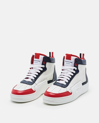 Multicolor leather sneakers Men Thom Browne 000253490037443 2