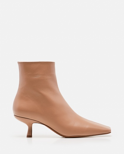 Lange Ankle Boots In Wrinkled Leather Women By Far 000285250042048 1