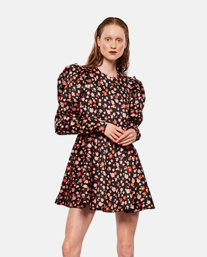 Pauline dress in printed polyester Women Rotate Birger Christensen 000263260038921 1