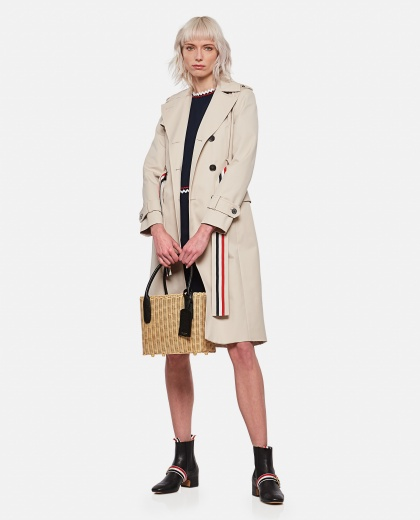 Double-breasted trench coat Women Thom Browne 000296750043633 2