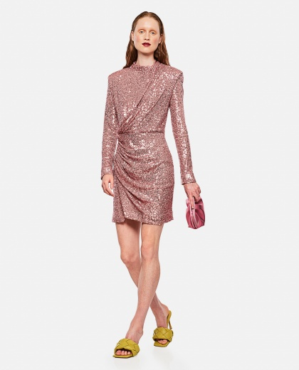 Draped dress with sequins Women Redemption 000264810039126 2