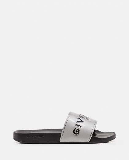 Metallic rubber GIVENCHY PARIS sandals  Men Givenchy 000301730044315 1