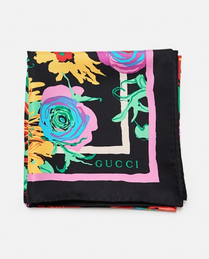 Ken Scott print silk foulard Women Gucci 000287370042366 1