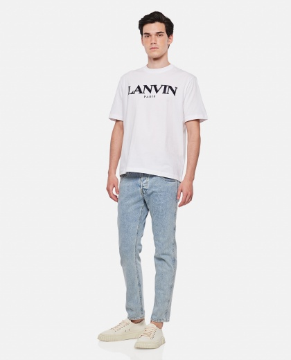 Cotton T-shirt with logo Men Lanvin 000309360045380 2