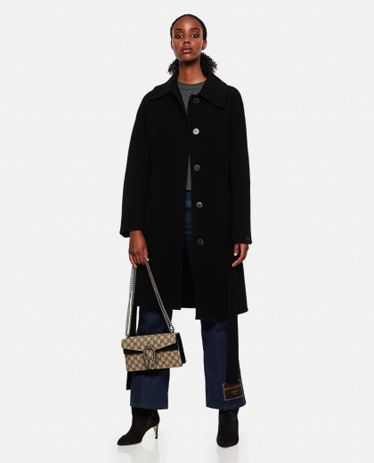 Oversized double-breasted coat in wool and cashmere Women Loewe 000258540038200 2