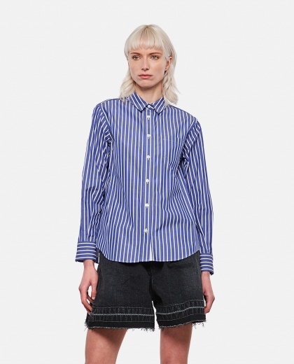 Shirt with back pleats and tulle inserts Women Sacai 000300980044219 1