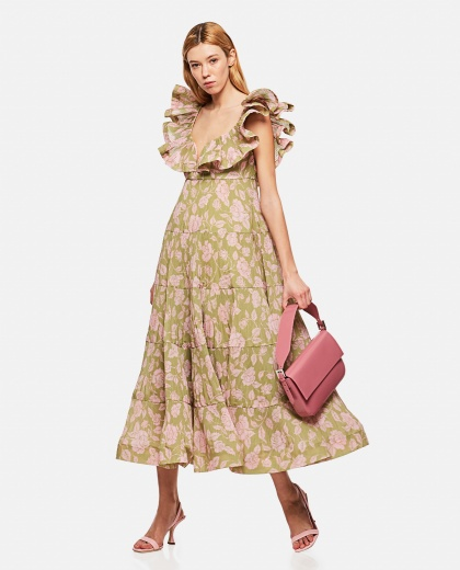 The Lovestruck Pleated Gown Dress Women Zimmermann 000290850042826 2