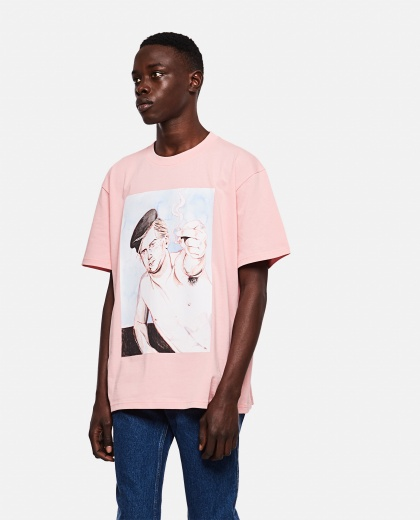 OVERSIZE T-SHIRT WITH PRINT Men J.W. Anderson 000293160043178 1