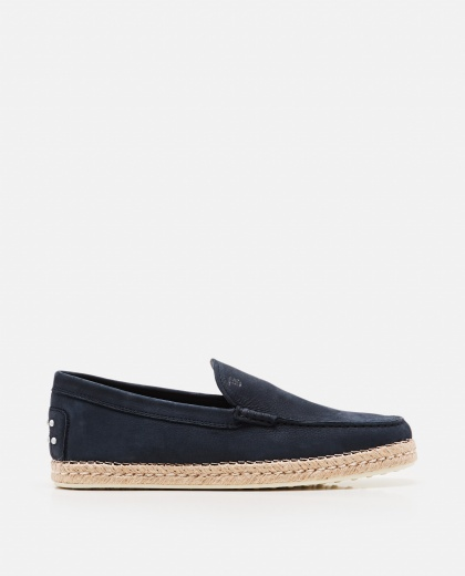 Taupe  suede midsole moccasins