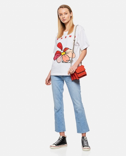 Printed cotton jersey T-shirt Donna Marni 000289660042656 2