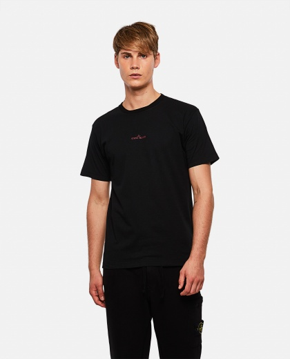 T-shirt with print on the back Men Stone Island 000271000039925 1
