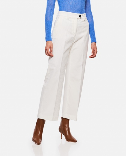 Long ribbed trousers Women True Royal 000211420031363 1