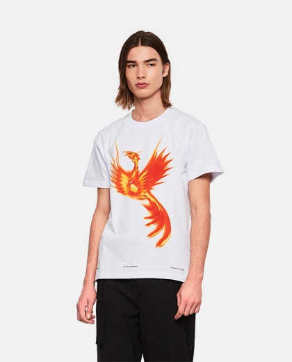 Phoenix print T-shirt Men United Standard 000278740041089 1