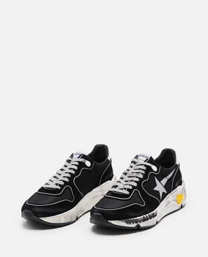 Sneakers Running sole in camoscio rete e pelle Uomo Golden Goose 000292250043031 2